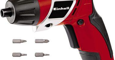 Einhell Visseuse sans fil TC-SD 3,6 Li (3,6 V, 1,3 Ah, Couple : 3 Nm, Rotation droite/gauche, Eclairage LED, Livré avec 6 embouts)