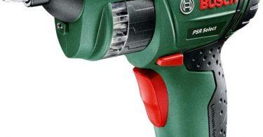 Bosch Visseuse sans fil à barillet PSR Select avec coffret, 12 embouts de vissage intégrés, batterie intégrée et chargeur...