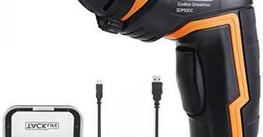 Visseuse sans Fil, TACKLIFE SDP50DC Tournevis Electrique Rechargeable, 31 Accessoires, Batterie Li-ion 3,6 V, 2000mAh avec Indicateur de Batterie, Couple...