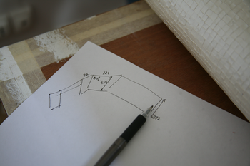 Définir point de depart de la pose du papier peint