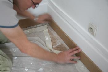 Pose ou préparation des plinthes